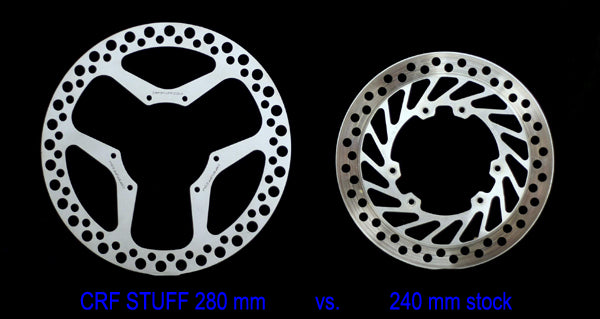 "MOTO STUFF Replacement 280mm ""CLASSIC"" Oversize Brake Rotor HONDA"