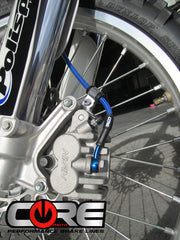 FRONT Steel Braided Brake Lines for SUZUKI