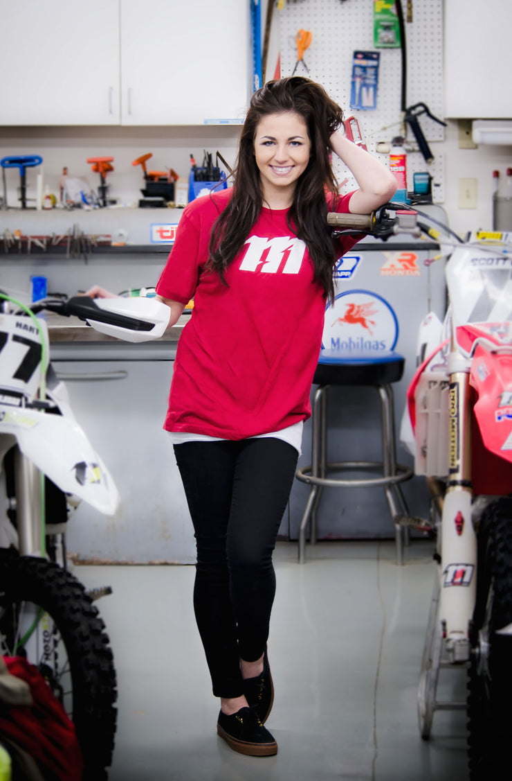 MOTO STUFF ICON T-SHIRT RED