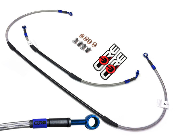 FRONT Steel Braided Brake Lines for YAMAHA