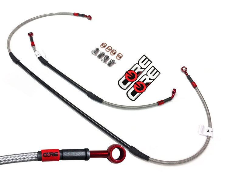 Front and Rear Steel Braided Brake Line Sets for HONDA