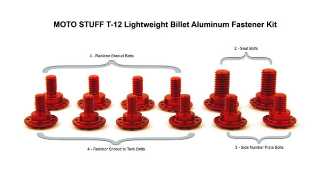 20 Bolt Billet Aluminum Body Fastener Kit