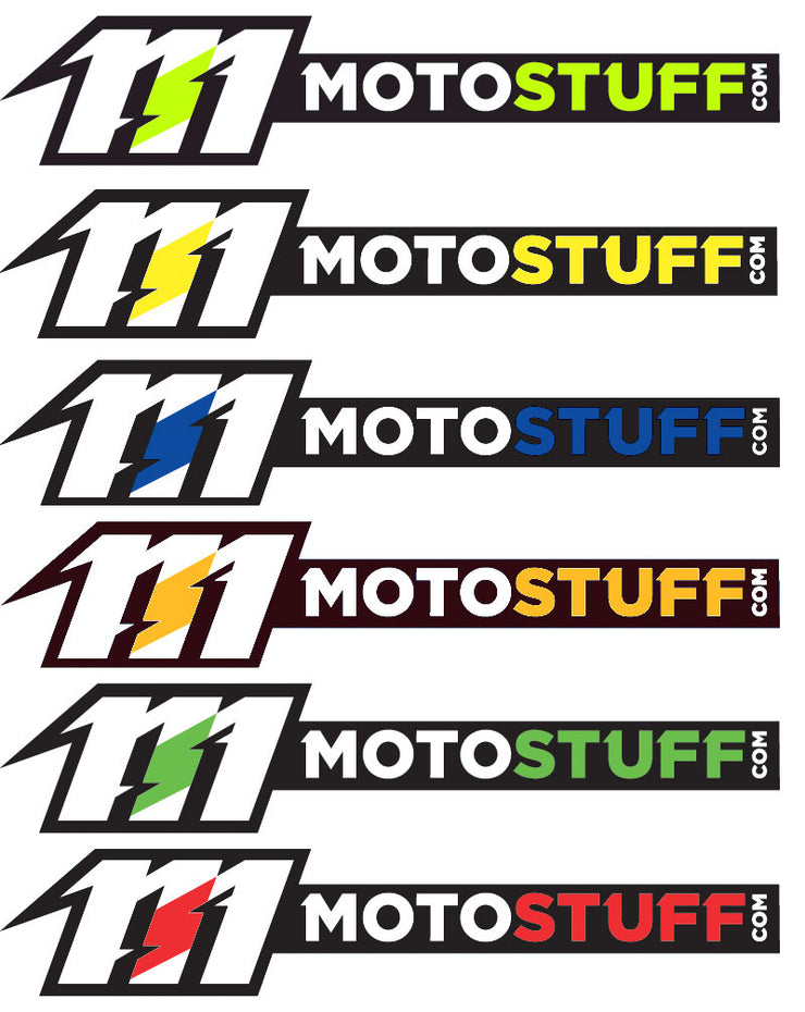 MOTO STUFF Rectangular Decal - Sticker