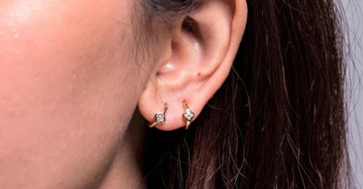 Affordable Gold Diamond Hoop Earrings for Women: Shop Online