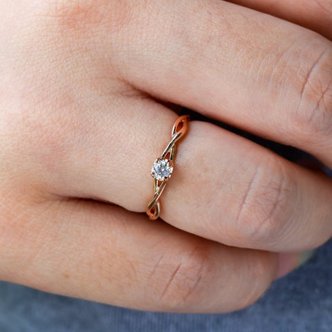 inexpensive diamond engagement ring