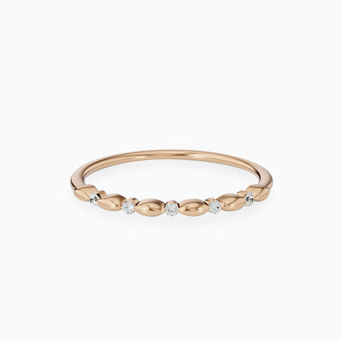 minimalist wedding rings 14k gold