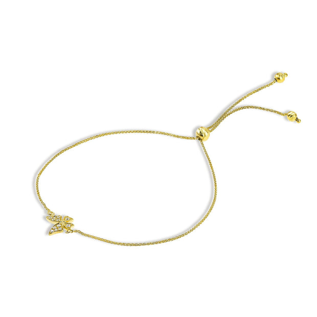 14k Diamond Butterfly bracelet