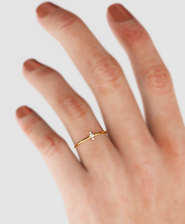 Two Stone Diamond Ring IN 14k Gold