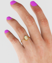 14k Natural Antique Opal Ring