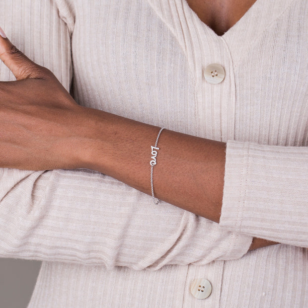 14k Diamond Love Bracelet
