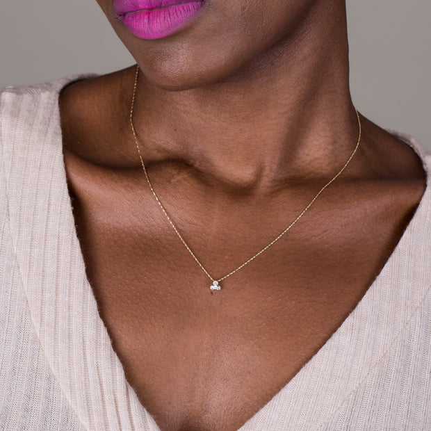 minimalist diamond necklace