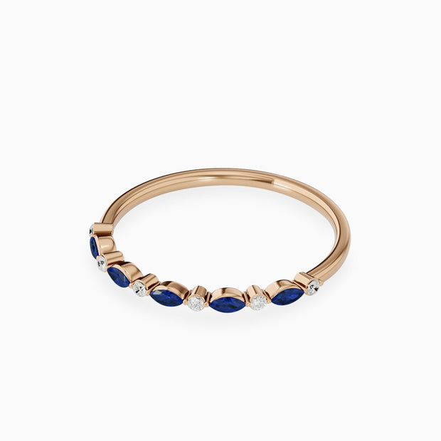 14k Gold Blue Sapphire Stackable Ring