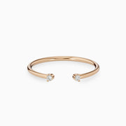 14k Stackable Gold Open Diamond Ring