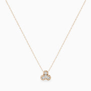 Minimalist Diamond Lotus Pendant Necklace