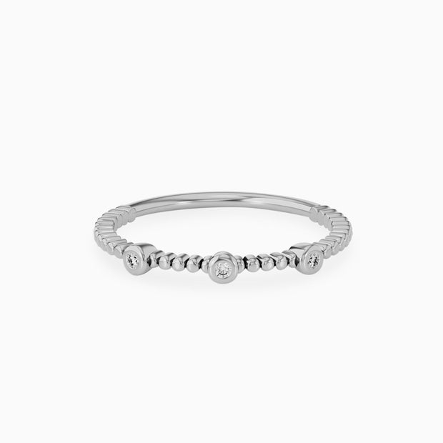 14k Wedding Ring With Three Diamond