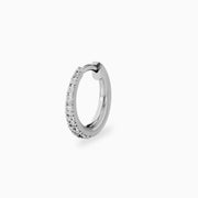 14k Diamond Line Hoop Earrings