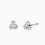 14k Lotus Diamond Stud Earring