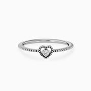 14k Gold Lovable Heart Diamond Ring