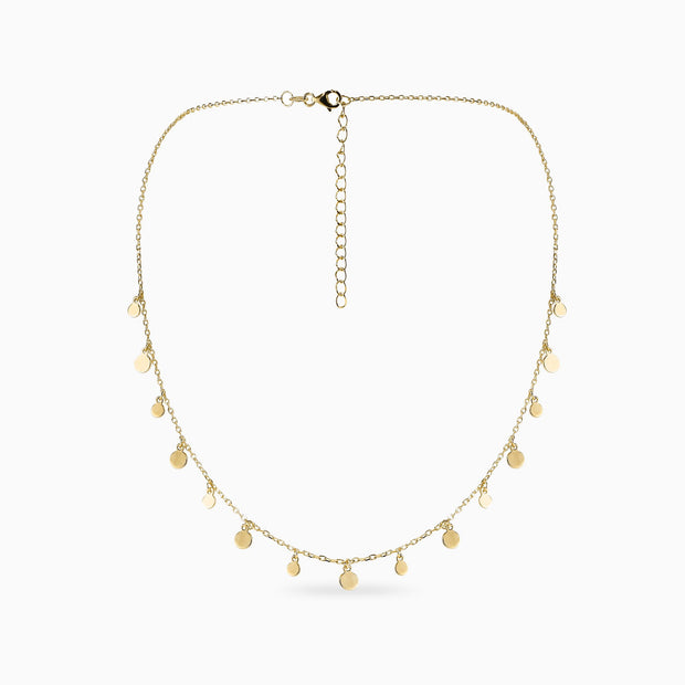 gold disc necklace cheap