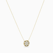 14k Gold Real Diamond Necklace