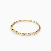 14k Gold Round Diamond Wedding Ring