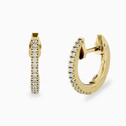 14k Gold Classic Diamond Hoops