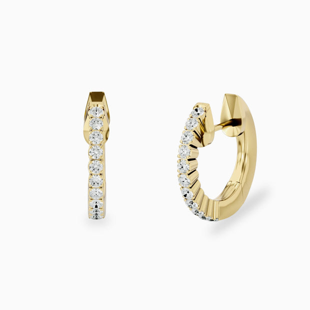 Diamond Hoop Earrings In 14K Gold