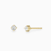 14k Gold Solitare Diamond Stud Earrings