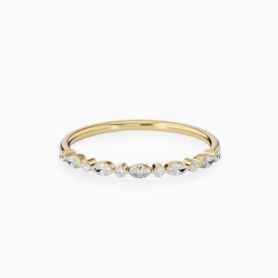 14k Marquise Diamond Wedding Ring