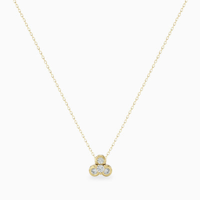 dainty diamond lotus necklace