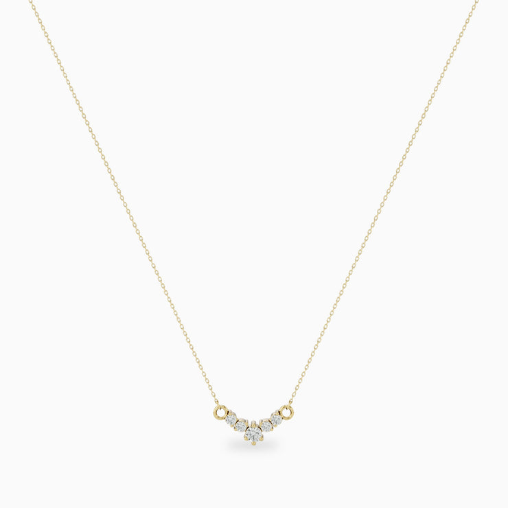 14k Dainty Diamond Necklace
