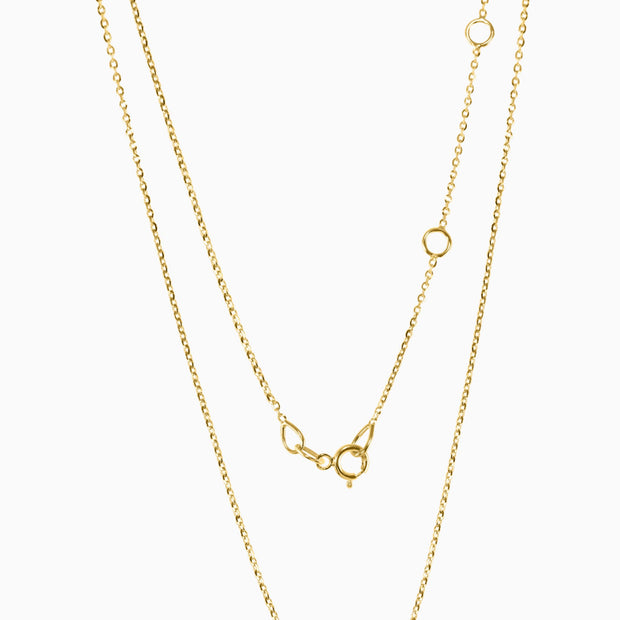 14k Upside Down Moon Pendant Necklace
