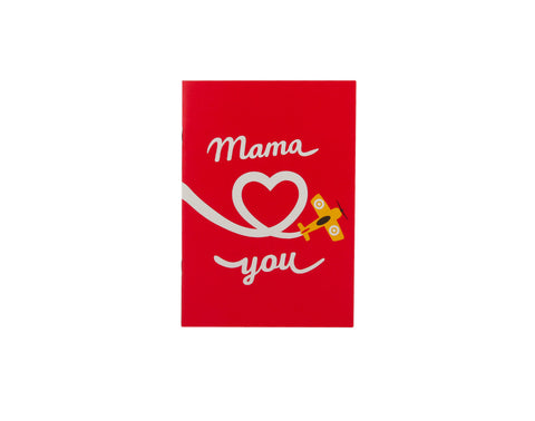 Carnet A5 Mama Loves You Rouge