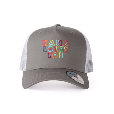 Casquette Mama Loves You Gris