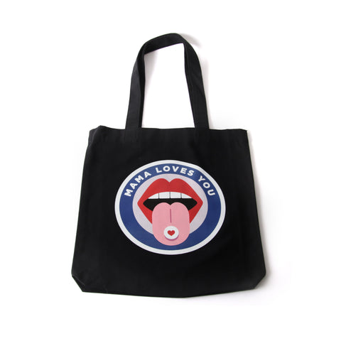 TOTE BAG NOIR MAMA LANGUE