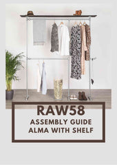Kennedy clothes rack with shelf assembly guide