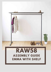 Emma clothes rack with shelf assembly guide