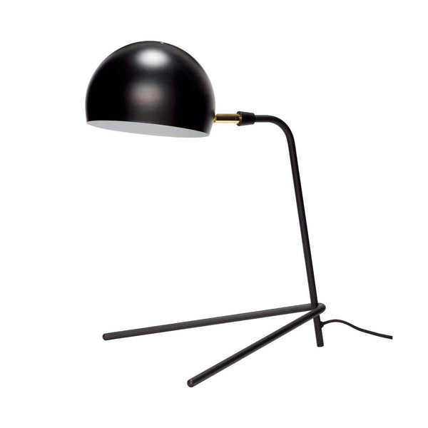 Bordlampe i metal, sort