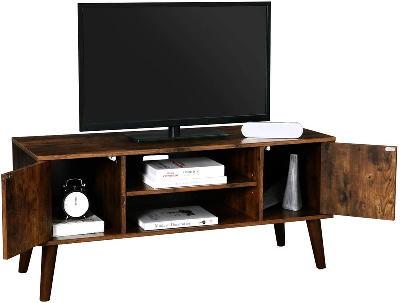 VASAGLE Retro TV Stand, TV Console for TVs up to 43 Inches, Mid-Century Modern Entertainment Center for Flat Screen TV, Cable Box, Gaming Consoles, in Living Room, Entertainment Room, Office LTV08BX