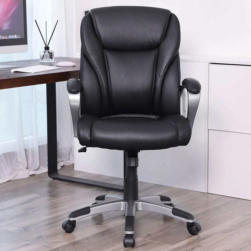 Roll over image to zoom in SONGMICS Soft and Comfortable Office Chair OBG34BK