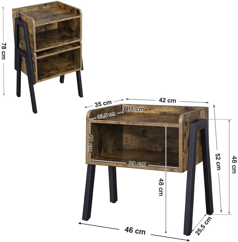 tackable Nightstand End Table
