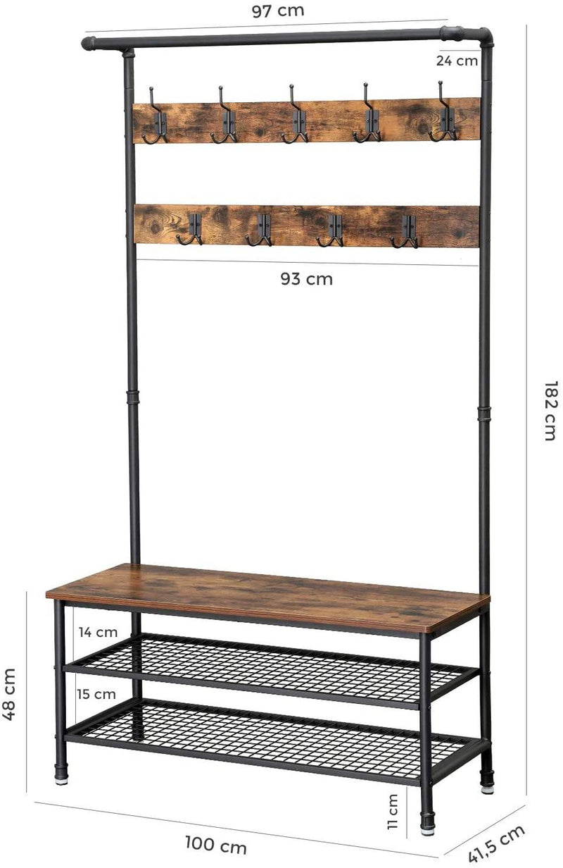 large clothes rack with water tube elements