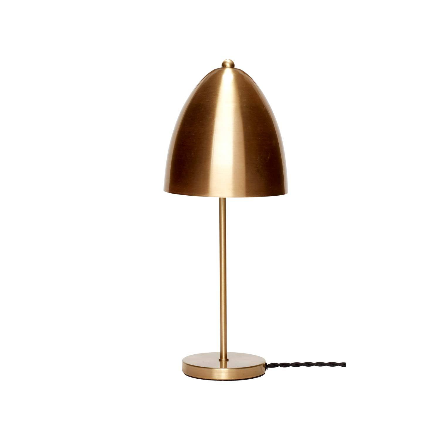 Image of   Bordlampe i messing