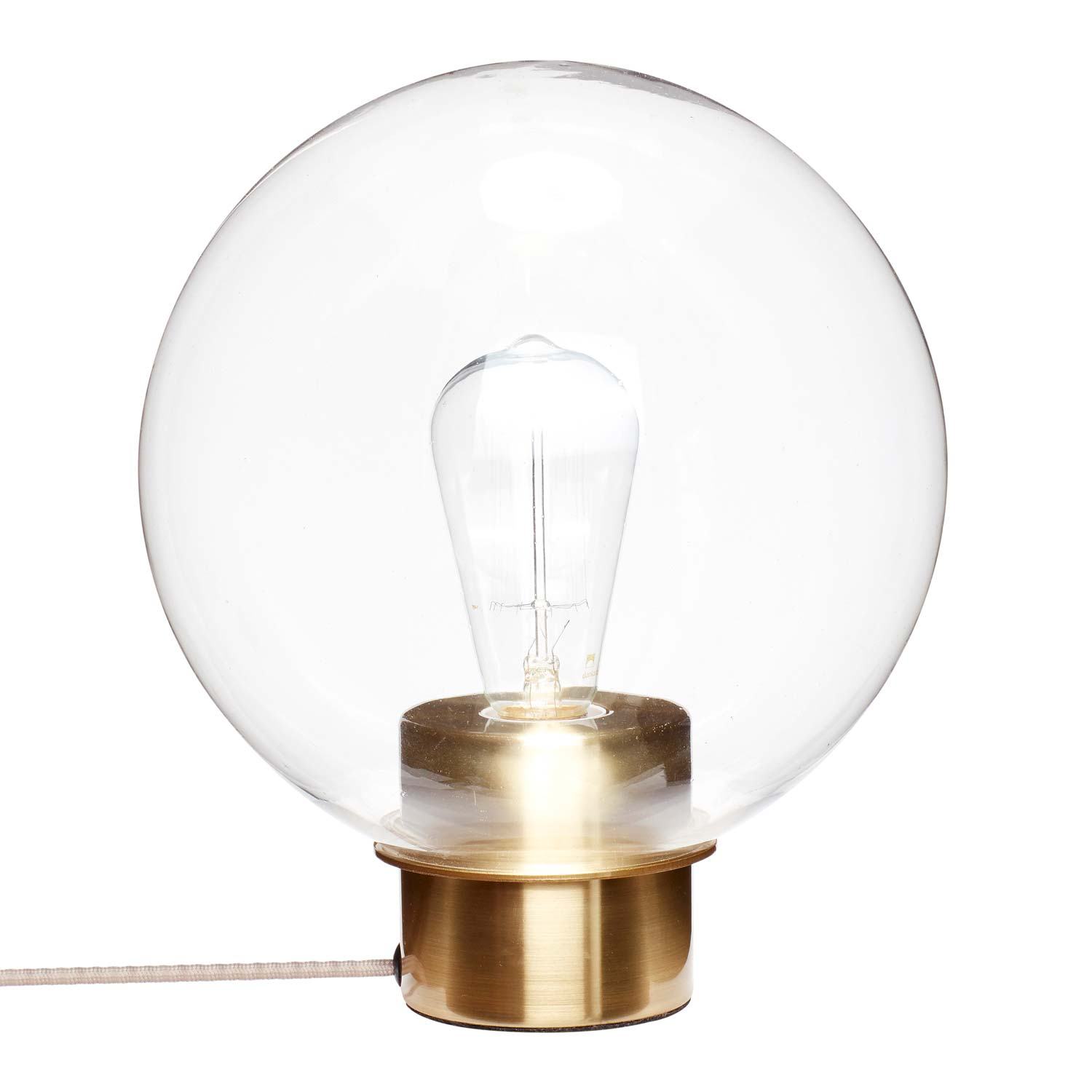 Image of   Bordlampe i glas/messing