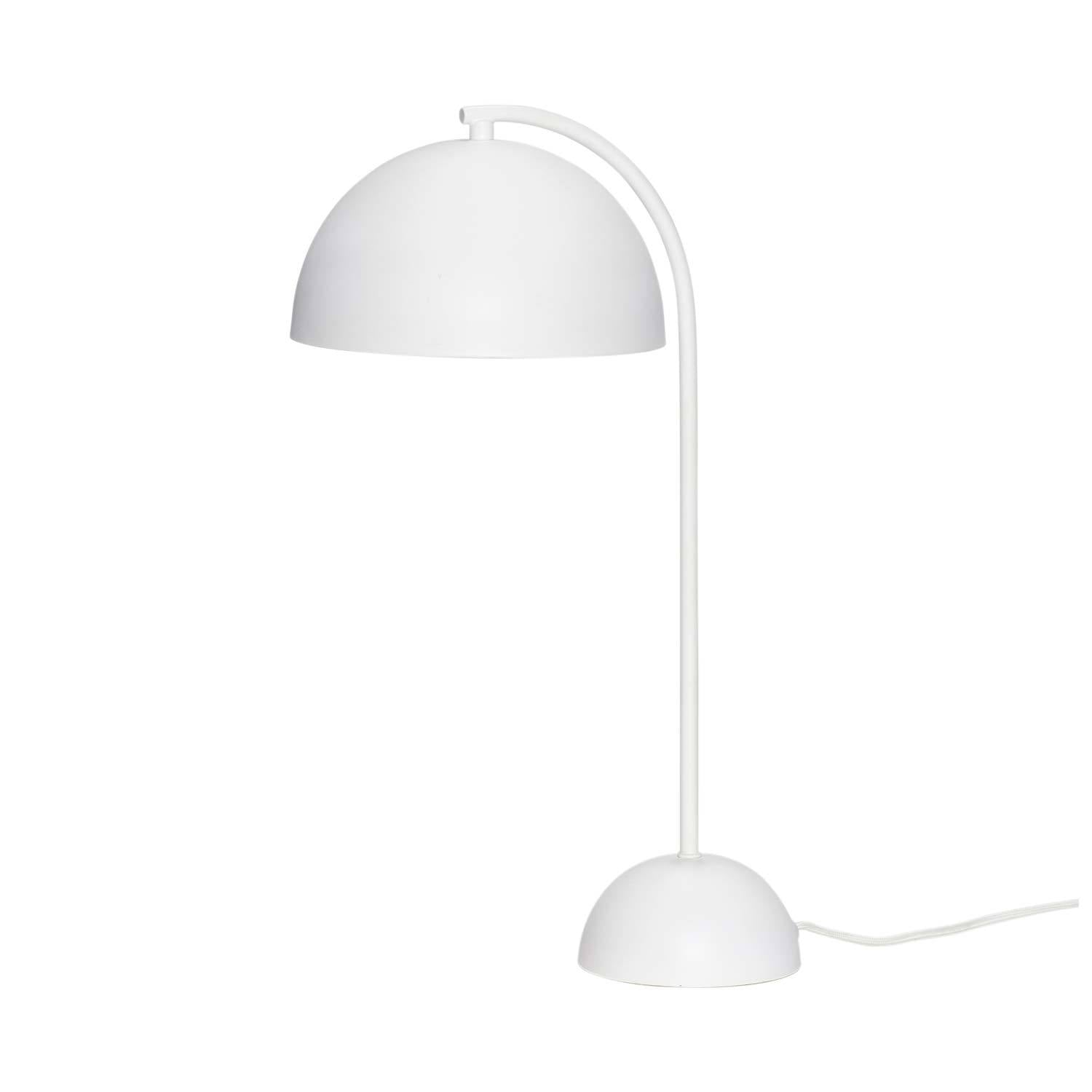 Image of   Bordlampe i metal, hvid
