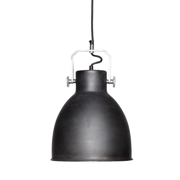 Loftlampe i sort metal