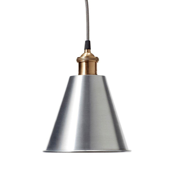 Loftlampe i metal/messing