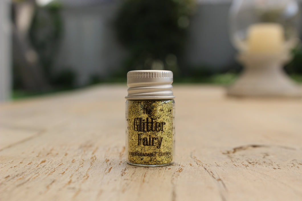 The Glitter Fairy Biodegradable Glitter Blend - Gold Rush