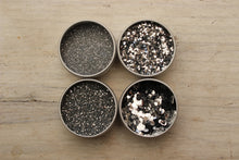 Load image into Gallery viewer, The Glitter Fairy Biodegradable Glitter Silver 4up