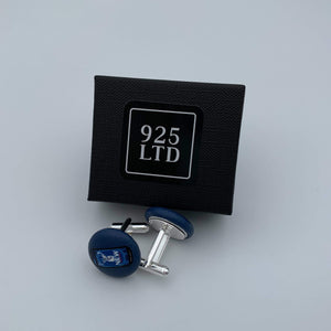 Handmade by 925Ltd Button Cufflinks Silver/Brass New Button Cufflinks